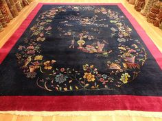 9' x 11' 11 NICHOLS CHINESE RUG ORIENTAL RUG ART DECO AREA RUG FREE SHIPPING #Chinese