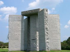 'Georgia Guidestones', five stones structure was 16 feet tall, weighing 20 tons. In the slabs of granite, there are writing in eight languages – including Egyptian hieroglyphic language, Hindi and Swahili with instructions for the survivors to rebuild a new culture on earth. Are the instructions in eight languages associated with the doomsday predictions? It is still unclear.