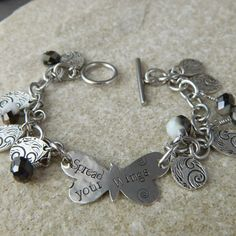 Spread Your Wings Butterfly Charm Bracelet by WireNWhimsy on Etsy