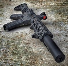 guns, weapons, self defense, protection, carbine, AR-15, suppressed, 2nd amendment, America, firearms, munitions #guns #weapons