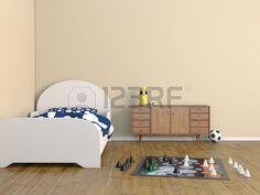 cama habitaci n de los ni os de las habitaciones Foto de archivo