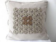 PDF Crochet Pattern Geometric yo-yo cushion door BlageCrochetDesign