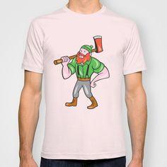 Paul Bunyan LumberJack Isolated Cartoon T-shirt