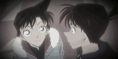 Shinichi and Ran This is when everyone thinks Ran died.