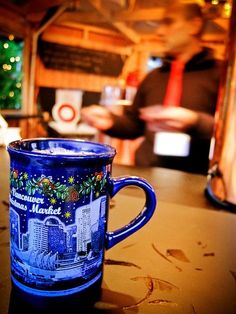 Glühwein (hot mulled wine) at Christmas Market in Hamburg, Germany ...