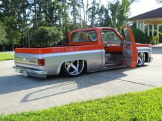 slammed chevy truck www.whipsbywade.com | Whips By WADE's favorite photos and videos | Flickr silver orange