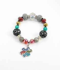 Autism Awareness Bracelet Support Mom Gift Jewelry Puzzle Piece Charm Aspergers