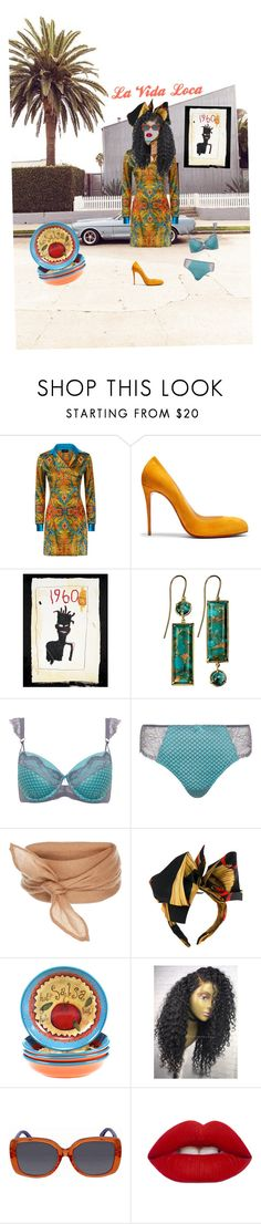 """La Vida Loca"" by fashionrx ❤ liked on Polyvore featuring Christian Louboutin, Xanthe Marina, Ashley Graham, Dolce&Gabbana, Certified International, Fendi and Lime Crime"