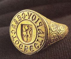 de Lusignan signet ring found in the ocean off Monemvasia, Greece.  Probably 14th C. made in Constantinople. Clean, simple, powerful.