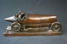 RACE CAR BRONZE AUTOMOBILE MERCEDES BLITZ- BY GURTNER IN 1905 | eBay