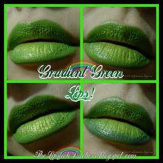 Gradient Green Lips! Green Lipstick, Makeup Forever, Mua Makeup, Instagram Posts, Palette, Pallet