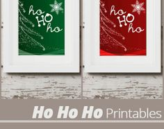 These #festive Ho Ho Ho #printables are the perfect addition to your #decor.  Just print the color you'd like, pop it into a frame, and voila– instant #holiday decoration!
