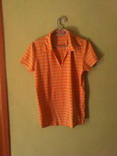 Camisa de rayas naranja