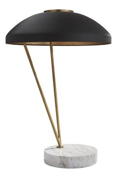KELLY WEARSTLER | COQUETTE TABLE LAMP. Marble and burnished brass lamp