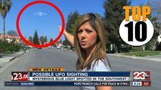 Top 10 REAL UFO Sightings on News Compilation
