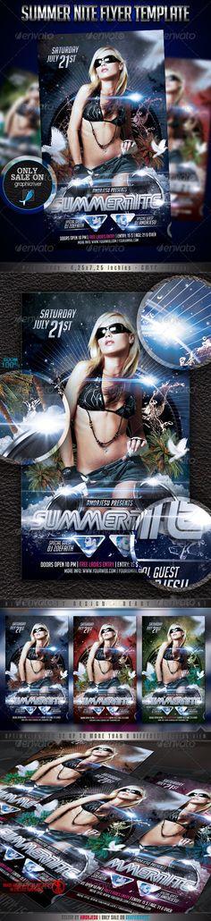 Summer Nite Flyer Template