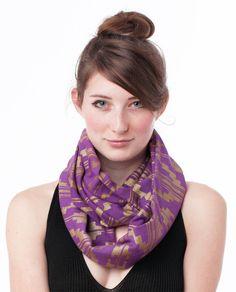 handprinted infinity scarf