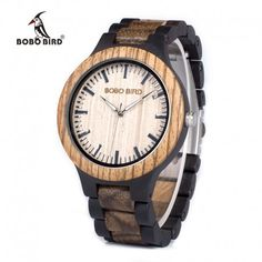Cool Watches: Big Discount BOBO BIRD Mens Wood Watch Zabra Wooden Quartz Watches for Men Japan miyota 2035 Watch in Gift Box with tool for adjust size Wooden Man, Wooden Watches For Men, Man Japan, Watch Gift Box, Couple Watch, Expensive Watches, Watch Sale, Cool Watches, Jewerly