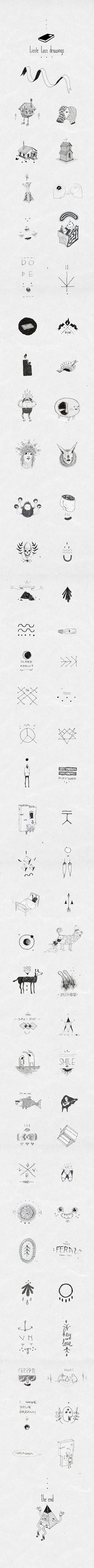 Little Lost Drawings by Slav Gipsy, via Behance