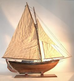Photos via Clapham Model Yacht Club  © of Francis Firth   Pond yachts are model wooden sailboats built for racing. They were popularised b...