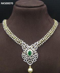 Pendant Set, Diamond Pendant, Diamond Jewelry, Bold Necklace, Beaded Necklace, Necklace Designs, Jewelry Necklaces, Jewellery, Costume Jewelry