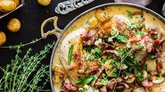 Kyllinggryte med sherry og fløte | Godt.no Dinner Side Dishes, Dinner Sides, Heston Blumenthal, Tasty Dishes, Food Styling, Love Food, Food Inspiration, Chicken Recipes, Easy Meals
