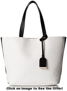 Kenneth Cole Reaction Clean Slate Shopper Bag, Chalk W Black, One Size