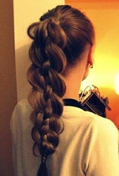 Intricate braided ponytail