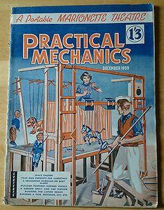 NEWNES PRACTICAL MECHANICS MAGAZINE DECEMBER 1959 A PORTABLE MARIONETTE THEATRE
