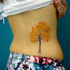 Resultado de imagem para tattoo ipê aquarela