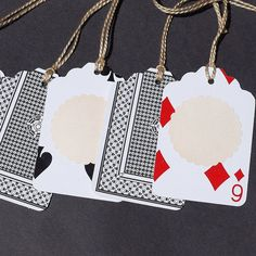 Recycled gift tags - black playing card tags