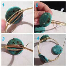 Learn to make these trending bangles with wire wraps around each stone. Usually I preferred making these fun bangles without making wraps around each stone. But after experimenting around wi...