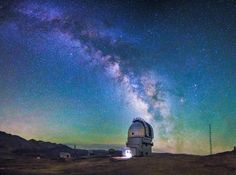 Milky Way over the Indian Astronomical Observatory in Hanle