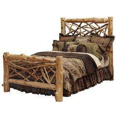 Twig Log Bed - Queen Black Forest Decor