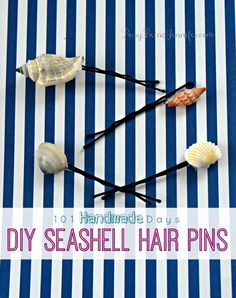 101 Handmade Days: DIY Seashell Hair Pins - Busy Being Jennifer