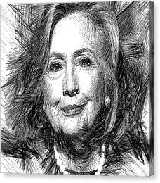 Hillary Rodham Clinton Canvas Print by Rafael Salazar