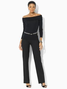 Lombard Bi-Stretch Wool Pant - Black Label Pants - RalphLauren.com