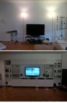 "IKEA Hackers: Resizing BESTA chromed underframe to fit BESTA Shelf unit with 7 7/8"" depth"