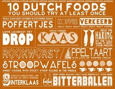 10 Dutch Foods You Should Try at Least Once - infographic- Awesome Amsterdam