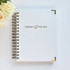 """""""Today & To-Do"""" by Day Designer • Embossed lizard-print leatherette cover, shown here in Pearl Ghost • Gold corner protectors • Sophisticated brass Wire-O binding • Non-dated, so you only use it on days you need it! • Over 300 daily planning pages include a schedule from 7am-7pm, your to-do list and """"top three,"""" an inspirational quote plus boxes for Download (notes), Due, Dollars, Dinner, Don't Forget, and Daily Gratitude • 2015 """"Quick Planner"""" calendar • Yearly reference calendars • Made…"""