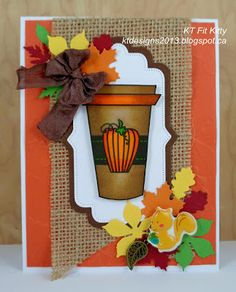 KT Fit Kitty: Fall Coffee Lovers Blog Hop - One Last Card