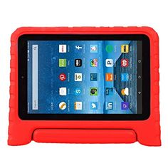 Buy Fire 7 2015 Case - Koantree Kids Shockproof Convertiable Handle Light Weight Protective Case with Stand for Amazon Fire 7 inch Display Tablet( 5th Generation,2015 Release Only) (Red) NEW for 18.99 USD | Reusell