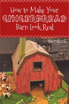 Learn how to make your gingerbread barn look real using methods from a Food Network finalist on the Haunted Gingerbread Showdown! Gingerbread House Template, Gingerbread House Designs, How To Make Gingerbread, Christmas Gingerbread House, Gingerbread Cookies, Christmas Fun, Gingerbread Recipes, Gingerbread Houses, Country Christmas