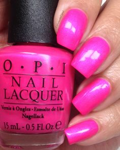 OPI- Hotter than You Pink (Neons 2014) So glad this comes in shellac too:)