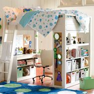 I like this loft bed design maybe 4 Gavin's room?!