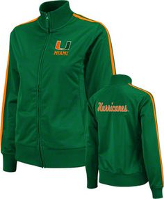 Miami Hurricanes Women's Green Carrier Track Jacket