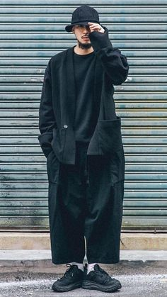 Japanese Street Fashion, Fashion Outfits, Fashionable Outfits, Mens Fashion, Japan Fashion, Stylish Men, Look Cool, Aesthetic Clothes, Streetwear Fashion
