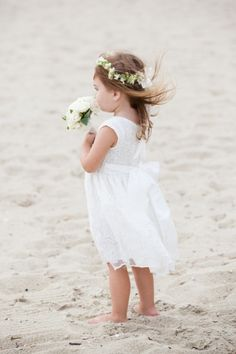 This sweet little one: http://www.stylemepretty.com/massachusetts-weddings/mashpee/2015/02/16/whimsical-cape-cod-beach-wedding/ | Photography: Melissa Robotti - http://www.melissarobottiphotography.com/