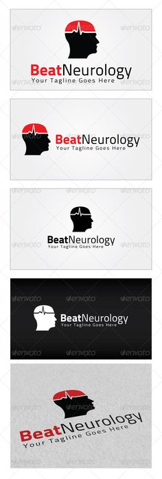 Beat Neurology Logo Template — Photoshop PSD #think #human • Available here → https://graphicriver.net/item/beat-neurology-logo-template/4319673?ref=pxcr