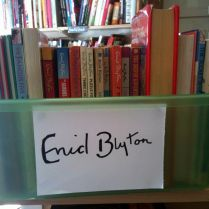 Box of Blyton's complete with a nice signature sign, Barnardo's Books, St Andrews